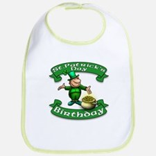 St. Patrick Birthday Leprechaun Bib