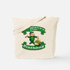 St. Patrick Birthday Leprechaun Tote Bag