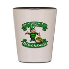 St. Patrick Birthday Leprechaun Shot Glass