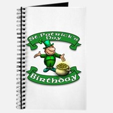 St. Patrick Birthday Leprechaun Journal