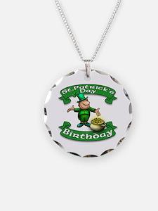 St. Patrick Birthday Leprechaun Necklace