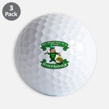 St. Patrick Birthday Leprechaun Golf Ball