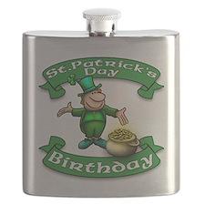 St. Patrick Birthday Leprechaun Flask
