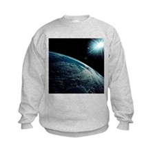 Cloud patterns, etc., over Andes seen fro - Sweatshirt