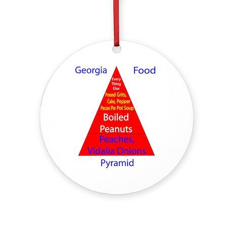 Georgia Food Pyramid Ornament (Round)