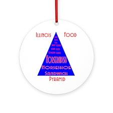 Illinois Food Pyramid (round) Round Ornament