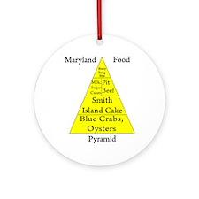 Maryland Food Pyramid Ornament (Round)