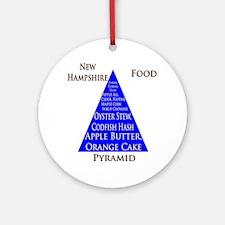 New Hampshire Food Pyramid Ornament (Round)