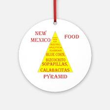 New Mexico Food Pyramid (round) Round Ornament