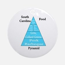 South Carolina Food Pyramid Ornament (Round)