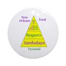 New Orleans Food Pyramid Ornament (Round)
