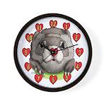 Ferret Heart Wall Clock