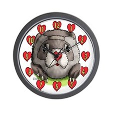 Ferret Heart Wall Clock