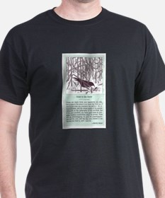 """""""Crow in the Snow"""" T-Shirt"""