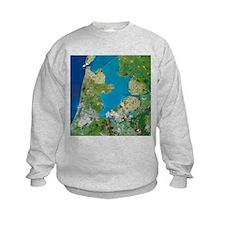 Polders, satellite image - Sweatshirt