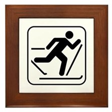 Cross Country Skiing Sports Framed Tile