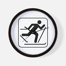 Cross Country Skiing Sports Wall Clock
