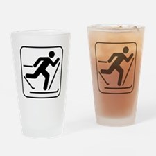Cross Country Skiing Sports Drinking Glass
