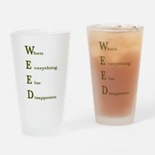 Weed Shirt Drinking Glass