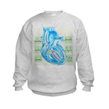 Artwork of cardiac arrhythmia with heart - Jumper Sweater