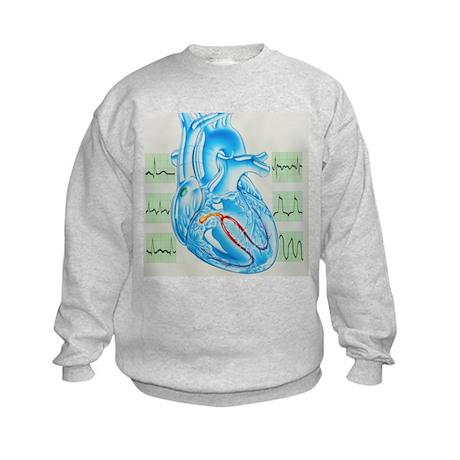 Artwork of cardiac arrhythmia with heart - Kids Sw