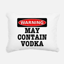 May Contain Vodka Rectangular Canvas Pillow