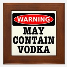 May Contain Vodka Framed Tile
