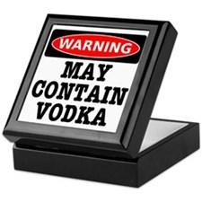 May Contain Vodka Keepsake Box