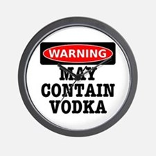 May Contain Vodka Wall Clock