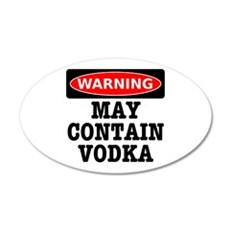 May Contain Vodka Wall Decal