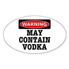 May Contain Vodka Decal