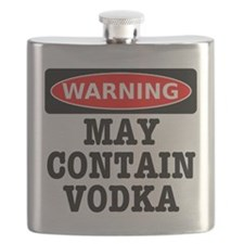 May Contain Vodka Flask