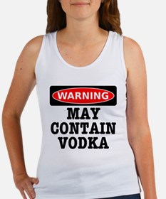 May Contain Vodka Women's Tank Top