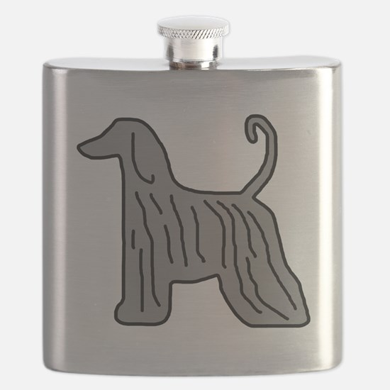 Grey Afghan Flask