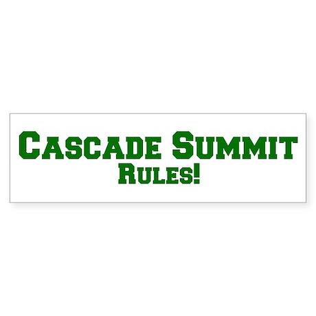 Cascade Summit Rules! Bumper Sticker