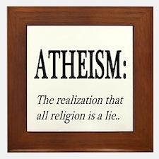 Atheism Shirt Framed Tile