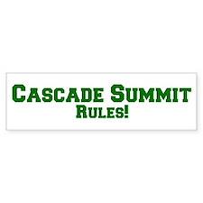 Cascade Summit Rules! Bumper Bumper Bumper Sticker