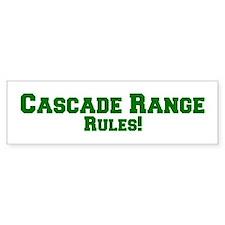 Cascade Range Rules! Bumper Bumper Sticker