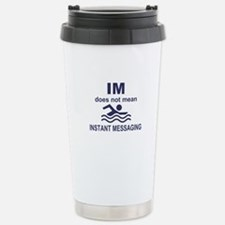 Instant Messaging Stainless Steel Travel Mug