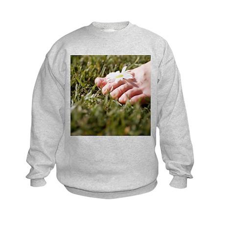 Daisy in between toes - Kids Sweatshirt