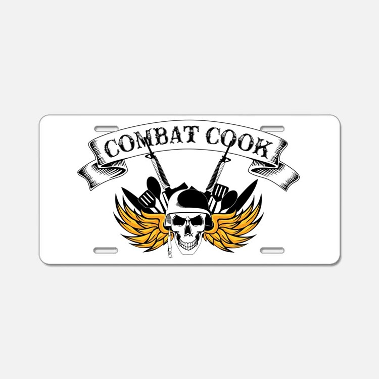 Combat Cook Aluminum License Plate