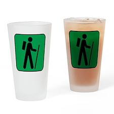 Hiking Hiker Sports Drinking Glass
