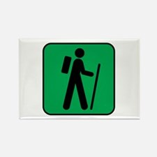 Hiking Hiker Sports Rectangle Magnet