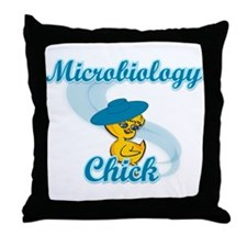 Microbiology Chick #3 Throw Pillow