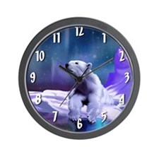 Contemplative Polar Bear Wall Clock