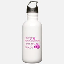 Daddy is prince charming.png Water Bottle