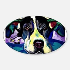 Great Dane Rectangle Decal
