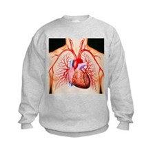 Human heart, artwork - Sweatshirt