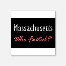 Massachusetts - Who Farted? Rectangle Sticker