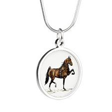 Hackney Pony Silver Round Necklace